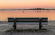 Zon komt op boven een winters landschap. Locatie, Langweerderwielen (Langwarder Wielen) en omgeving 02.jpg
