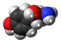 (S)-Octopamine molecule spacefill.png