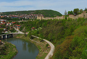Yantra (river) - The Yantra running through Veliko Tarnovo
