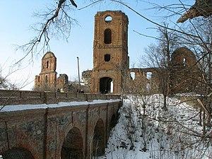 Korets - Image: Корецький замок, чотирьохарковий міст