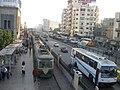 Міські трамвай і автобус у Каїрі.jpg