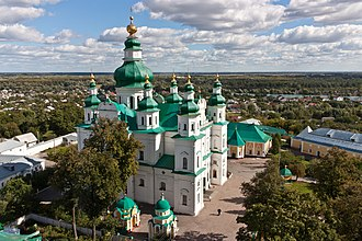 Desna River - Chernihiv's Trinity Church and Monastery with the Desna River in the background.