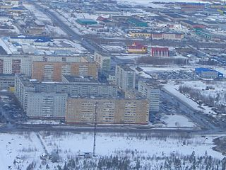 Usinsk Town in Komi Republic, Russia