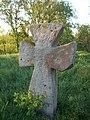 Хрест з католицького кладовища встановлений на козацькому кургані.jpg