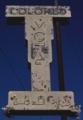 """""""COLORED MOTEL 2 BLOCKS"""" in 1979 segregation sign, Route 80, Statesboro, Georgia LCCN2017703566 (cropped).tif"""