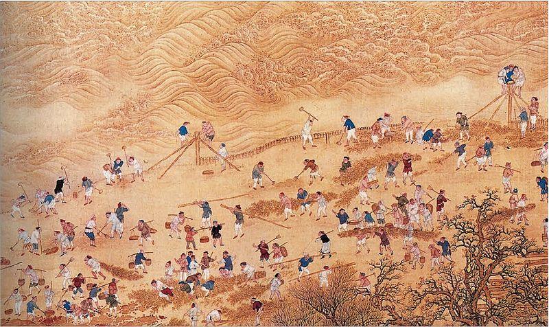 File:康熙帝南巡图卷,治黃河.jpg