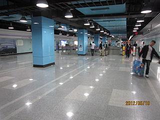Hangzhong Road station Shanghai Metro station