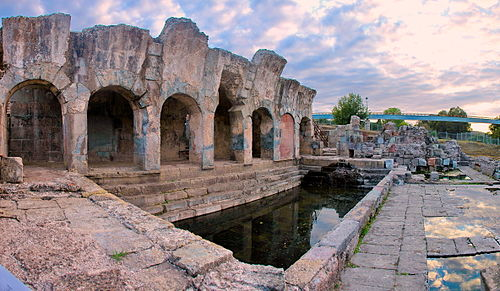 Roman thermae of Forum Traiani, in what is now Fordongianus. - Sardinia