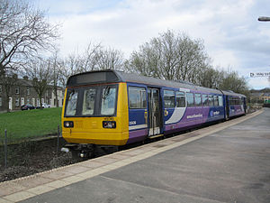 East Lancashire line - A Northern Rail Class 142 at Colne