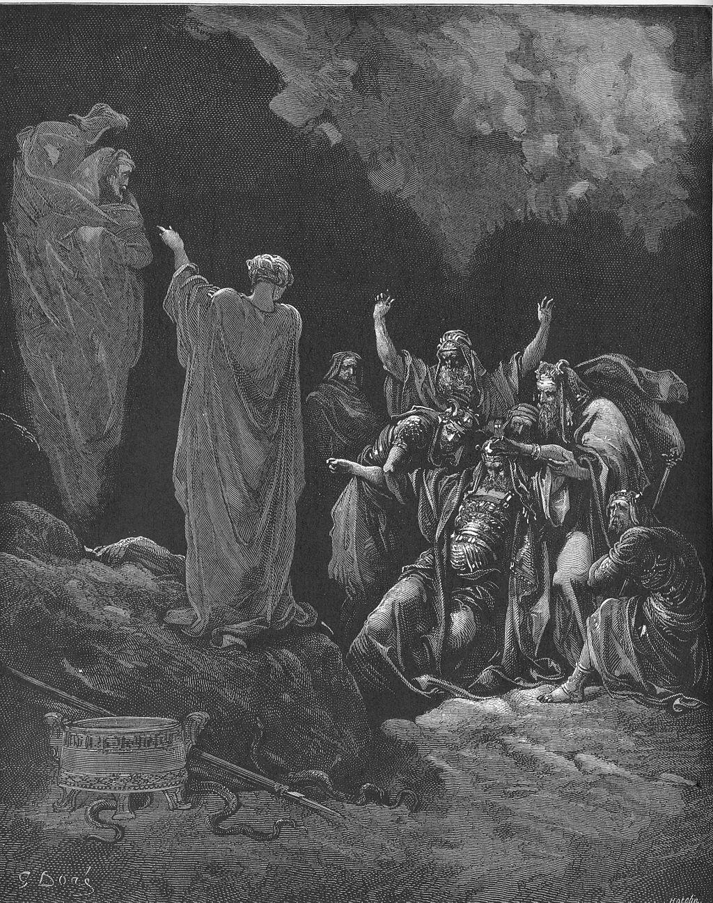 사울과 엔돌의 신접한 자 (귀스타브 도레, Gustave Doré, 1866년)