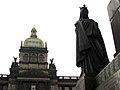 080 Monument a Sant Venceslau, amb el Museu Nacional al fons.jpg