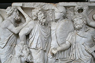 Sarmatians - Sarmatians on Roman relief, second half of the second century AD