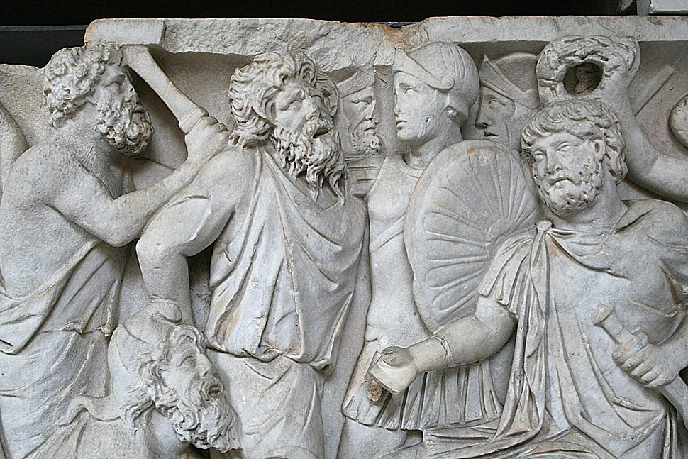 0 Sarcophage - Soumission des sarmates - Museo Pio-Clementino (2)