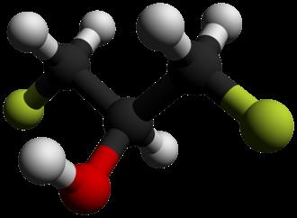 1,3-Difluoro-2-propanol - Image: 1,3 Difluoro 2 propanol 3D balls by AHRLS 2012