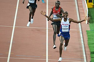 2015 World Championships in Athletics – Men's 10,000 metres - Victorious Mo Farah