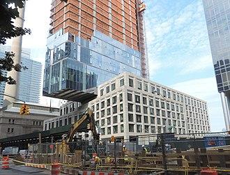Eleventh Avenue (Manhattan) - 10 West End Avenue underconstruction