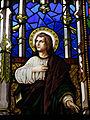 115 Castell de Santa Florentina (Canet de Mar), vitrall de la Crucifixió.JPG