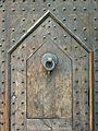 122 Palau Comtal de Centelles, façana de la plaça Major, detall de la porta.jpg
