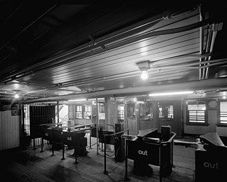 125th Street (IRT Broadway–Seventh Avenue Line) - Image: 125th Street Subway control area 1978