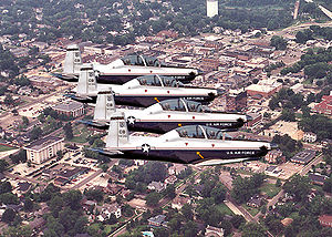 14th Operations Group - T-6 Texan IIs over Columbus AFB, Mississippi