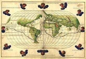 Battista Agnese - Worldmap from the Portolan Atlas by Battista Agnese (1544)