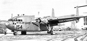 167th Airlift Squadron - 167th ATS Fairchild C-119C Flying Boxcar 49-154