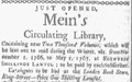 1766 Meins CirculatingLibrary BostonGazette Nov10.png