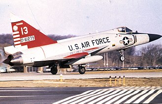 176th Fighter Squadron - 176th Fighter Interceptor Squadron Convair F-102A-75-CO Delta Dagger 56-1279 taking off from Truax Field, Wisconsin, 1970.