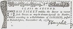 1776 Lottery ticket