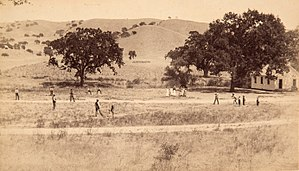 Origins of baseball - Ballgame in California, 1860s