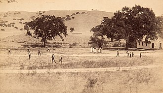 Origins of baseball - Ballgame in California, 1860s