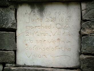 2nd Minnesota Volunteer Infantry - Company A memorial in Chatfield, Minnesota.