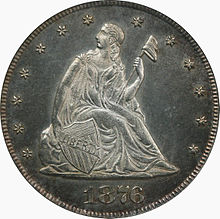 1876 Proof Twenty-cent piece obverse.jpg
