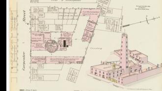 Sparks Shot Tower - Image: 1880 survey Sparks Shot Tower
