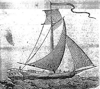 Packet boat - An 1825 book plate depicting a typical packet boat