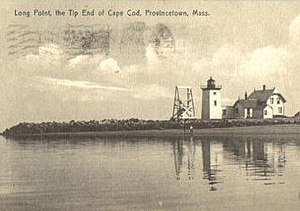 Long Point Light - 1909 postcard Long Point Light