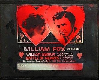 The Battle of Hearts - Lantern slide