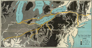Selkirk hurdle - New York Central Railroad map from 1929 shows the Water Level Route avoids major elevation changes