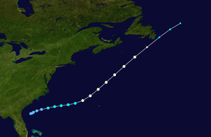 1934 Atlantic hurricane season - Image: 1934 Atlantic hurricane 2 track