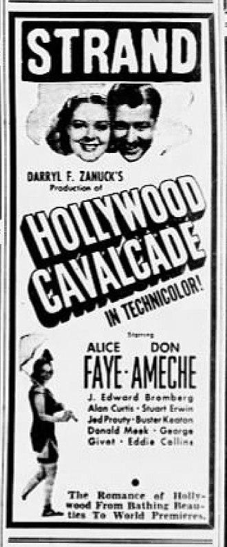 Hollywood Cavalcade - Newspaper advertisement