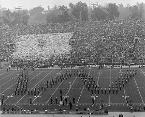 1963 Rose Bowl - UW Marching Band during the pregame festivities