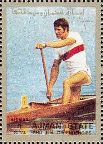Reinhard Eiben - Reinhard Eiben on a stamp of Ajman