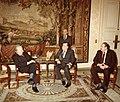 1981. Diceimbre, 3. Rafael Caldera y el presidente del Senado de Francia, Alain Poher.jpg