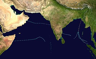 1994 North Indian Ocean cyclone season - Image: 1994 North Indian Ocean cyclone season summary