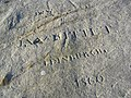 19th century rock graffiti - geograph.org.uk - 329138.jpg