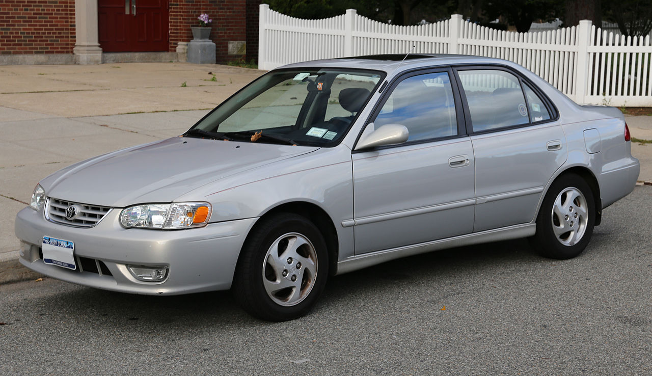 File 2001 toyota corolla s in silver front jpg