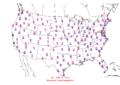 2006-02-11 Max-min Temperature Map NOAA.png