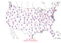 2006-03-26 Max-min Temperature Map NOAA.png