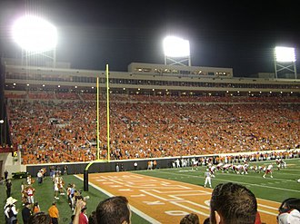 2008 Oklahoma State Cowboys football team - The Cowboys face off against the Houston Cougars at Boone Pickens Stadium on September 8, 2008