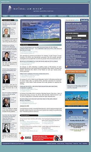 The National Law Review - The National Law Review, February 2, 2010